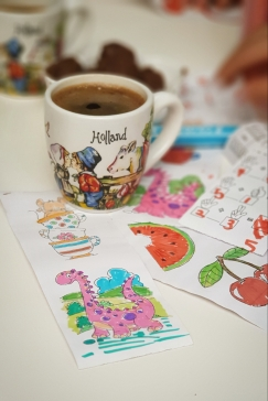 photo covid-19 pandemic sketch colors activities turkish coffee