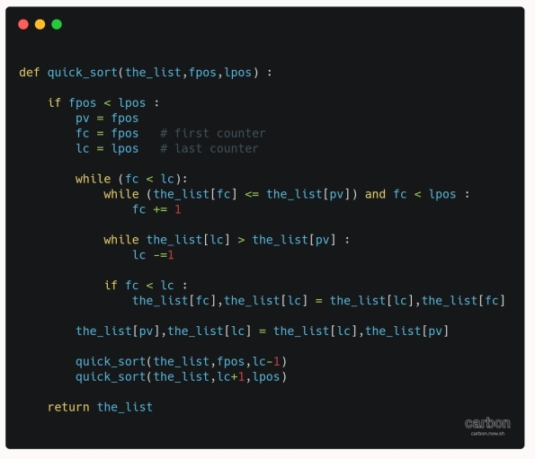 python project code Quick Sort Algorithm ali radwani