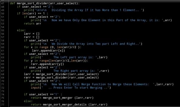 ali radwani python code merge sort algorithm
