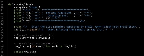 ali radwani ahradwani.com python code project sorting algorithm insertion sort