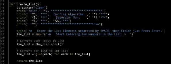 ali radwani ahradwani.com python project code selection sorting algorithm