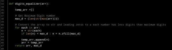 ali radwani ahradwani.com python project code radix sorting algorithm