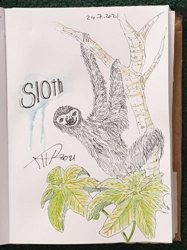 ali radwani sketch pen pencile water color sketchbook