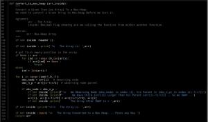 Ali Radwani python code heap sorting algorithm