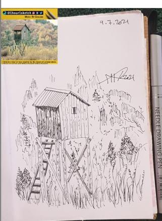 ali radwani sketch pen pencil 1hour1sketch