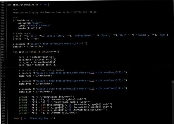 python project code coffee consumption ali radwani